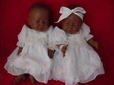 Vintage 2 Twin Berjusa, Berenguer Black Vinyl Dolls