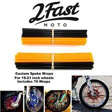 2FastMoto Spoke Wrap Kit Orange Black Wraps Covers Skins Spoked Rim Skinz Suzuki
