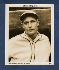 "#47 Joe Heving, 1930 Giants The Sporting News 1981 Conlon Collection 4""x 5"" card"
