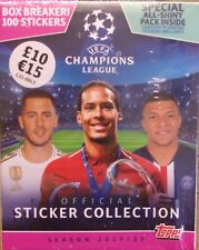 Uefa Champions League 2019/20 Topps Sticker Collection Box Breaker 100 Stickers