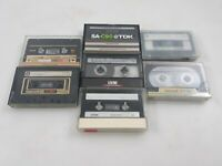 Lot of 7 Pre Recorded Type II High CrO2, Maxell, TDK, 90 Minute, XLII, UX