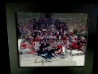 SCOTTY BOWMAN o Autograph Signed 8x10 Picture Photo Detroit Red Wings Cup PSA
