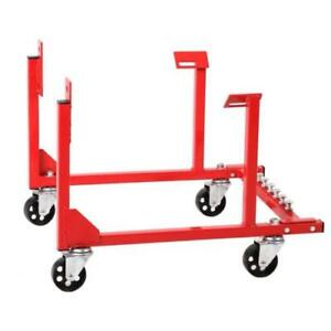 NEW Engine Cradle Stand 1000lb Chevrolet Chevy Chrysler V8 With Dolly Wheels ++