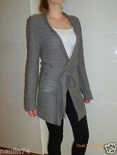 Pullover Sommer Strickjacke Damen Gr. 36 dunkelgrau