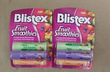 Blistex Lip Protectant SPF 15 Fruit Smoothies Three Pack LOT OF 2 Brand New
