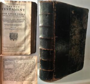 1640 GENEVA BIBLE 'Breeches' Old & New Testament Psalms Maps FOLIO