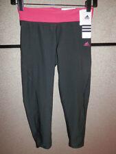 Womens Adidas Ultimate 3/4 Three-Quarter Tight Workout Yoga Black $50 L Large