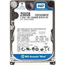 WD2500BEVE 250GB IDE ATA PATA 2.5 Laptop Hard Drive 250 GB Western Digital WD