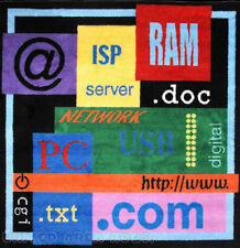 "51"" x51"" Square  Educational  Rug  RAM TXT ISP doc www com Computer PC Savvy 5x5"