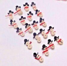Miniature Dollhouse Paper Snowmen Christmas Origami Lot 20
