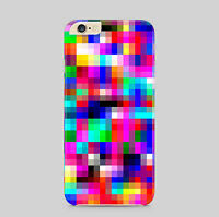 Rainbow Squares Pixels Pattern Phone Case Cover