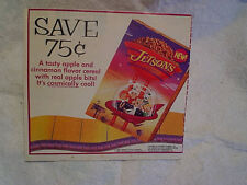 1990 THE JETSONS Cereal Hanna Barbera AD PRINT ONLY,george,astro,judy,elroy,jane