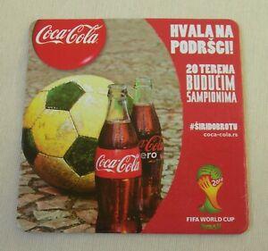 Coca Cola - 1 pcs Serbian Coaster - Soccer World Cup in Brazil 2018- RARE ITEM
