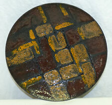 "Old Italy Mid Century Modern Abstract 8.5"" Enamel Bowl Dish Textured Modernist"