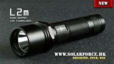 Solarforce L2m 18650/CR123A Flashlight Body Host - Black (No LED)