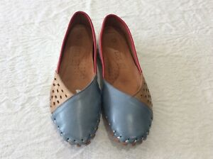 Pavers grey, tan, white, red leather casual mules size 39/6