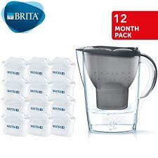 Brita Marella Maxtra + 2.4l Jarra de agua con filtro +12 meses Cartuchos de Gris