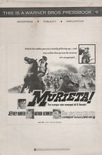 THE MURIETA! pressbook, Jeffery Hunter, Arthur Kennedy, Diana Lorys