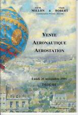 Catalogue de vente MILLON 1991 AERONAUTIQUE ANCIENNE MODERNE - AEROSTATION