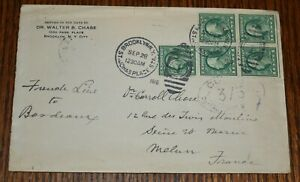 1916 Military Censored Cover France From New York Caroll Chase 1 cent green