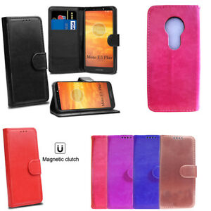 High Quality Premium Leather Wallet Flip Book Stand Case Cover for Moto E5 Play
