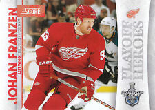 10/11 SCORE PLAYOFF HEROES STANLEY CUP #5 JOHAN FRANZEN RED WINGS *9011