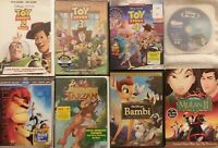 9x KIDS LOT Disney DVD & BluRay Toy Story 1 2 3 4, Lion King, Bambi I II, Tarzan
