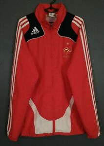 MENS ADIDAS FRANCE NATIONAL 2008/2009 JACKET TRAINING SOCCER FOOTBALL RED SIZE M