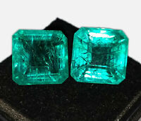 Loose Gemstones 7 to 9 Cts 2 Pieces Natural Emeralds Certified Best Offer