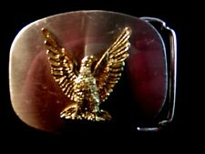 Eagle belt buckle two tone