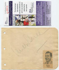 Milton Berle Signed Cut Autograph. 1941. JSA Authentic.