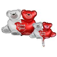 Bear Couple Shape Foil Balloon LOVE YOU For Wedding Anniversary Valentine Party