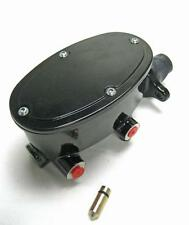 "Custom Black Tandem Oval Master Cylinder w/ 1"" Bore Disc Drum 260-8555-BK"