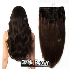 Ombre Double Weft Clip In 100% Real Remy Human Hair Extensions Full Head BS115
