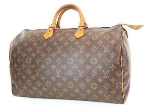 Authentic LOUIS VUITTON Speedy 40 Monogram Boston Handbag Purse #37485