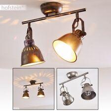 Plafonnier gris argenté Lustre Retro Lampe à suspension Métal Lampe de corridor