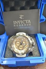 Invicta 18308 Venom Reserve Charcoal Dial Leather Strap Chronograph Dive Watch