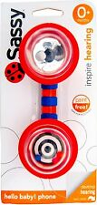 Sassy Hello Baby Toy Phone Baby Rattle Teething Toy 0+m NEW