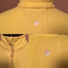 Lululemon Size 8 Yellow White Full Zip Shape Forme Run Luon Jacket Women