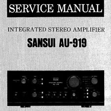 SANSUI AU-919 Integrated Stereo Amp Service Manual inkl. verfahrene Diag Printed eng