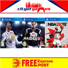 Fifa 18 NBA 2K18 & Madden 18 PS4 Sports Bundle New In Stock Free Express Post