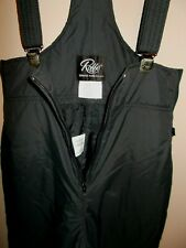 Roffe Skiwear Womens Size 12 Black Insulated Pants with Suspenders 33""