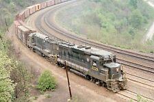 H: Original Slide Prr Pennsylvania Rr Gp30 #2229+1 w/Train - Hs Curve Pa 1966