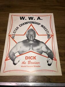 Vintage Dick The Bruiser Championship  WWA Wrestling Promo & Hall Of Fame Photo