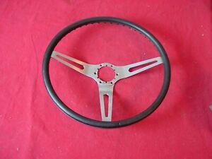 "1970 Chevelle Corvette 15"" Black Cushion Grip Sport Steering Wheel Original GM"