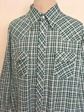 VTG 60s ~ McGREGOR PEARL SNAP PLAID WESTERN SHIRT ~ XXL 18-18 1/2 Extra Long