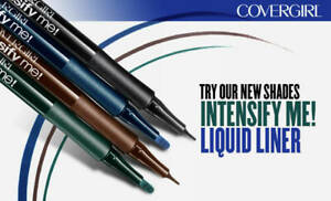 COVERGIRL Intensify Me Eye Liner Liquid You Pick 300 305 310 315 New Carded