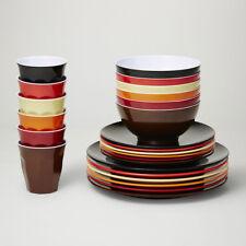 Barel Designs Classic Melamine 48 Piece Vintage Dinner Set - Cups, Bowls, Plates