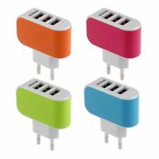 Phone Eu Plug Wall AC Charger Adapter 3.1a 220V Triple USB Port For Samsung Htc