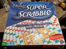 Super Scrabble Deluxe Edition Crossword Board Game Tile Lock Game Board